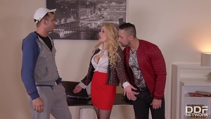 Lustful Angel Wicky ass fucked gangbang