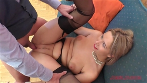 Ramming hard young blonde hair in stockings