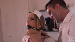 Candy Alexa and blonde Nikki Miller cumshot in the clinic