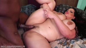 Real sex in company with chubby brunette Angelina Castro