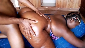 Nailing in the company of very fat ebony amateur