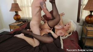 Large boobs Alura Jenson has a thing for hard ramming