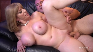 Erotic blonde babe Sara Jay rough pussy eating after interview
