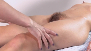 Hairy pussy girl softcore massage