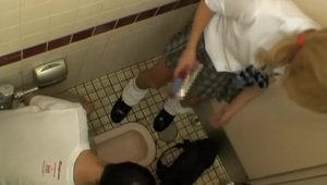 Japanese amateur rammed hard in toilet