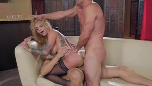 Brazzers Network: Inked Bonnie Rotten ass fucking penetration