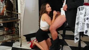Plowing hard among natural brunette Cassidy Klein
