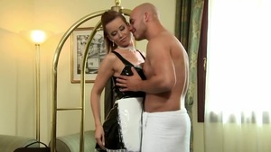 Erotic maid Cindy Dollar has a thing for fucking hard