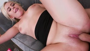 LetsTryAnal - Blonde haired Summer Day POV doggy sex