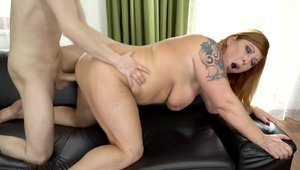 Large tits teacher Jean Val Jean helps with hardcore sex