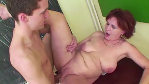 Fucking hard alongside hairy german stepmom