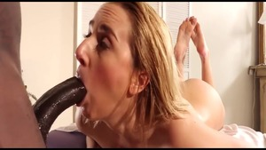 Pussy eating scene between busty reality Katie Morgan