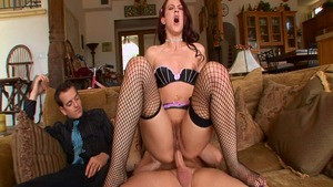 Blowjob in the company of very hot babe Cheyenne Jewel
